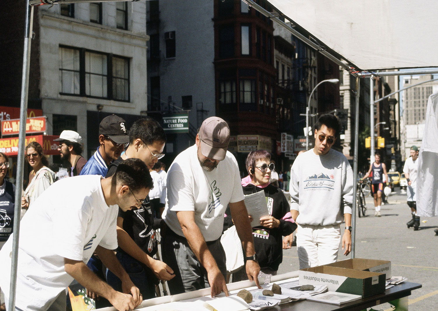 Public Planning For HRP At Union Square Greenmarket 1994