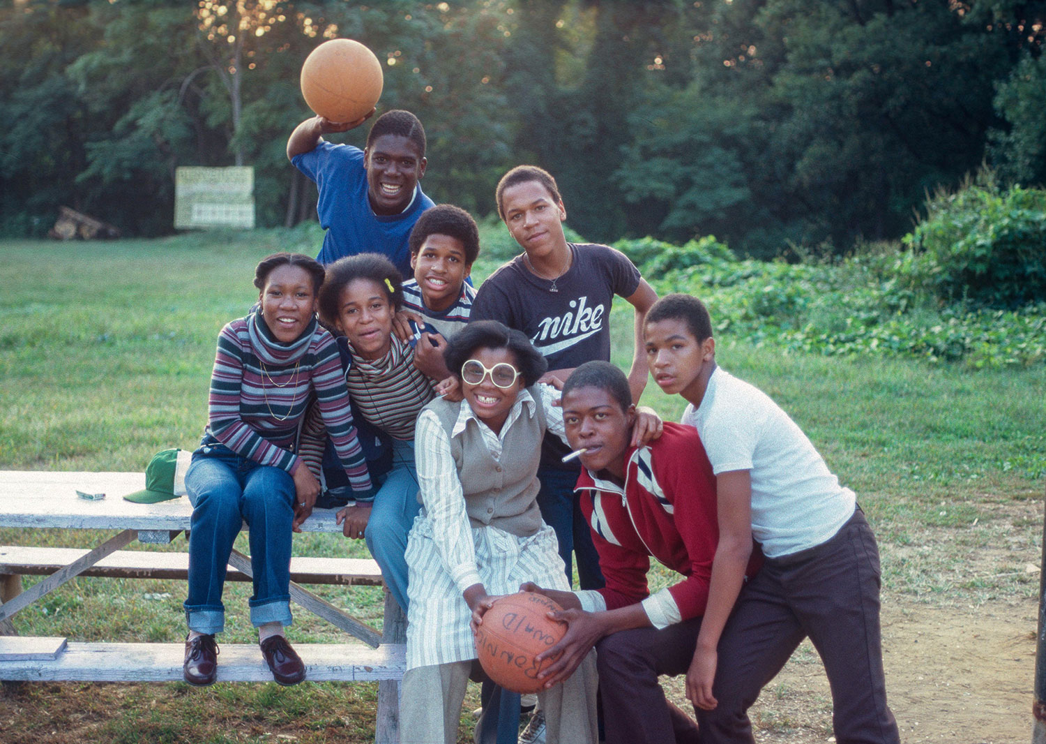 Basketball team members and fans 1979