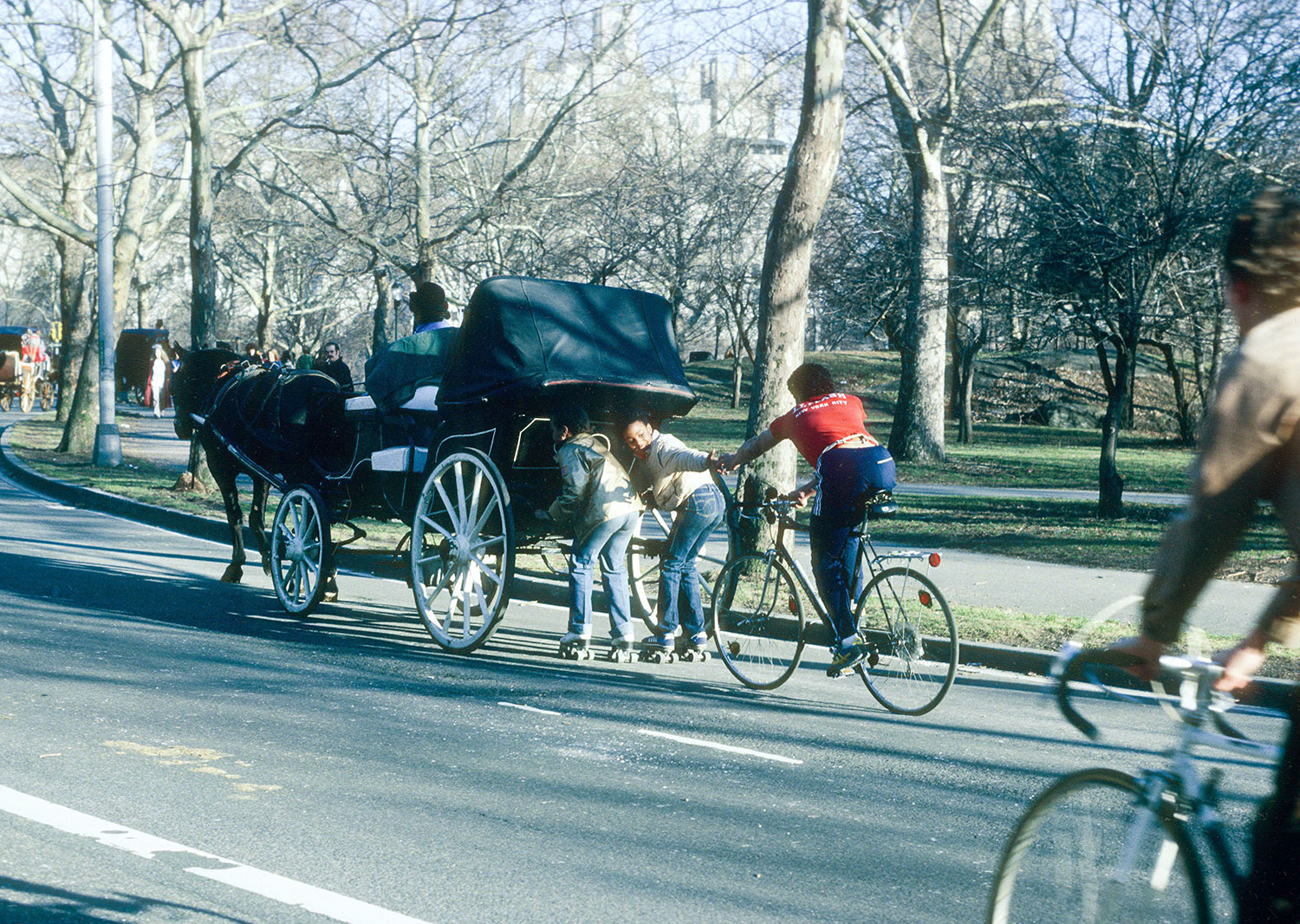 Hitching Ride In Central Park 1980
