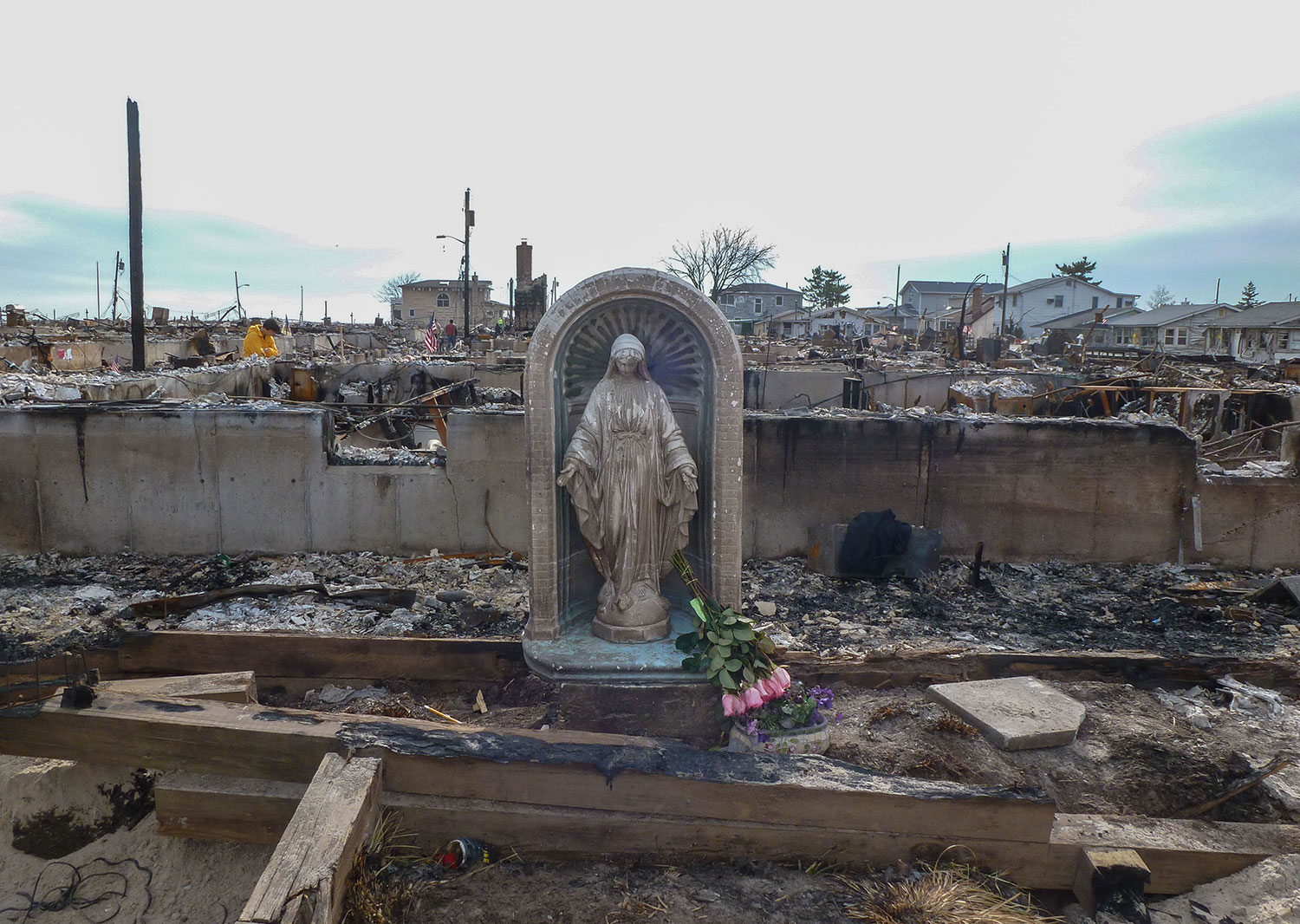 After the Breezy Point Fire, Superstorm Sandy 2012