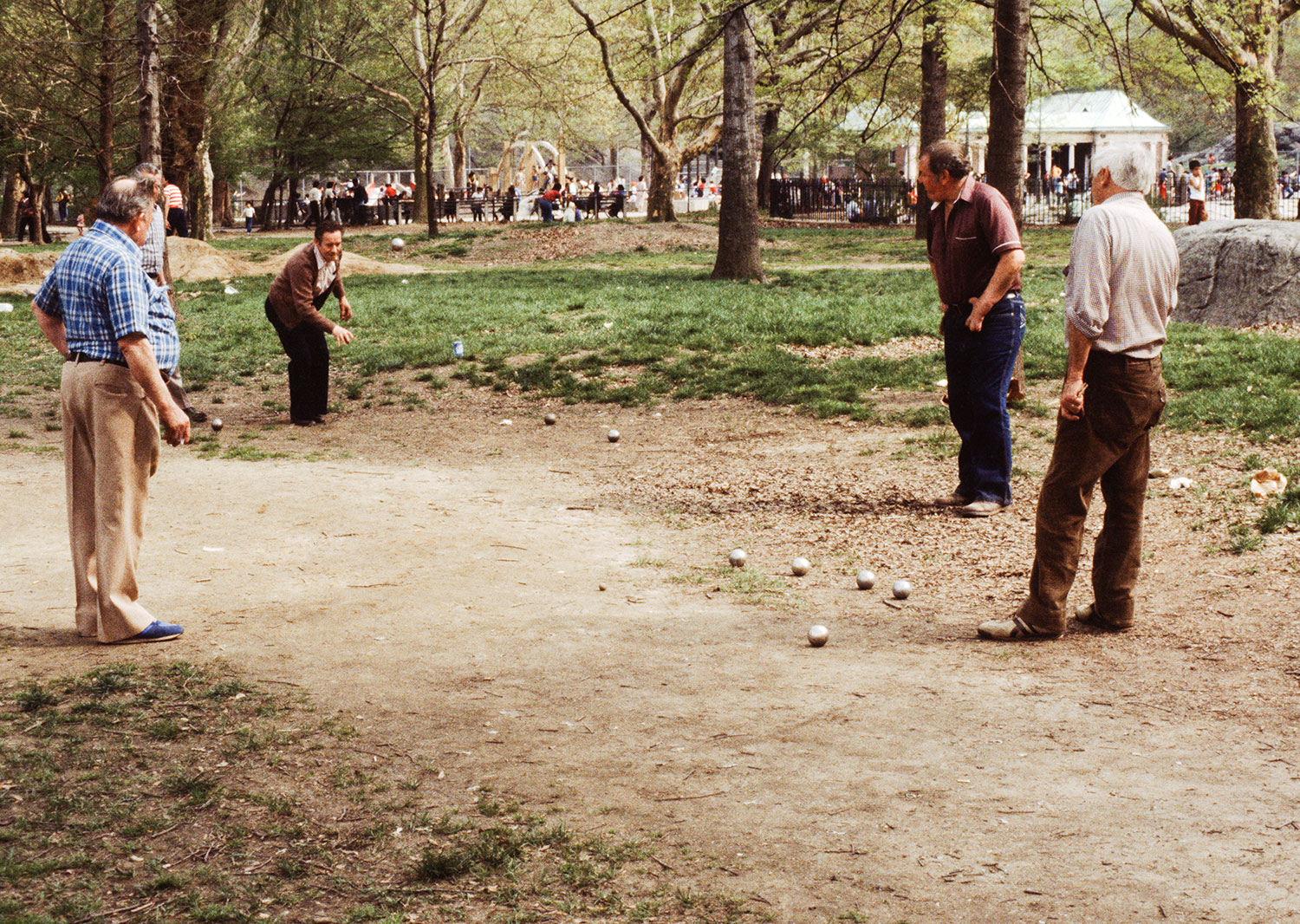 Pitanque In Cenral Park 1984