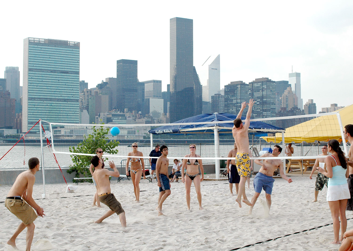 Volleyball at Water Taxi Beach - Long Island City 2006