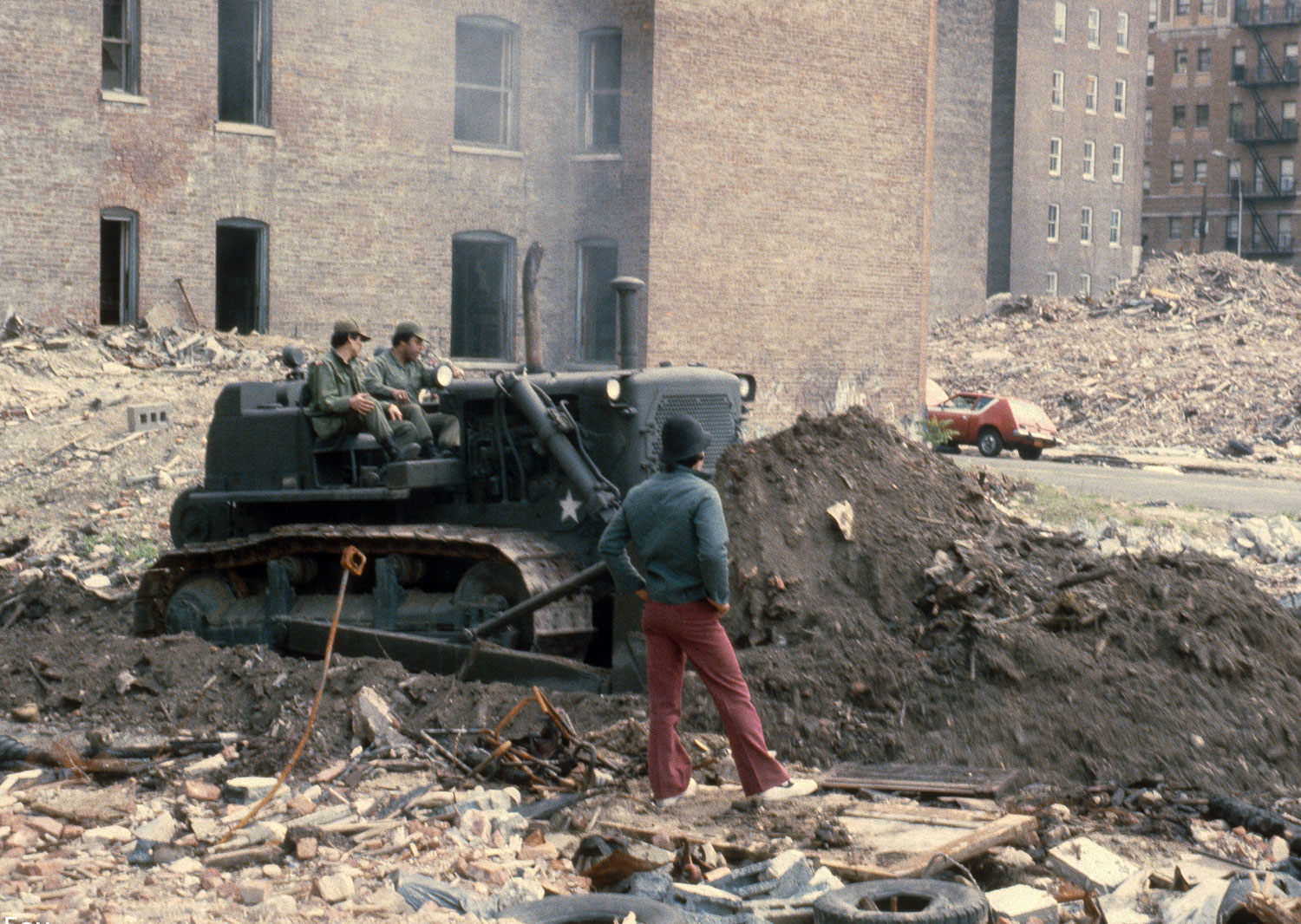 US Army Corps of Engineers Clearing Vacant Lots 1980