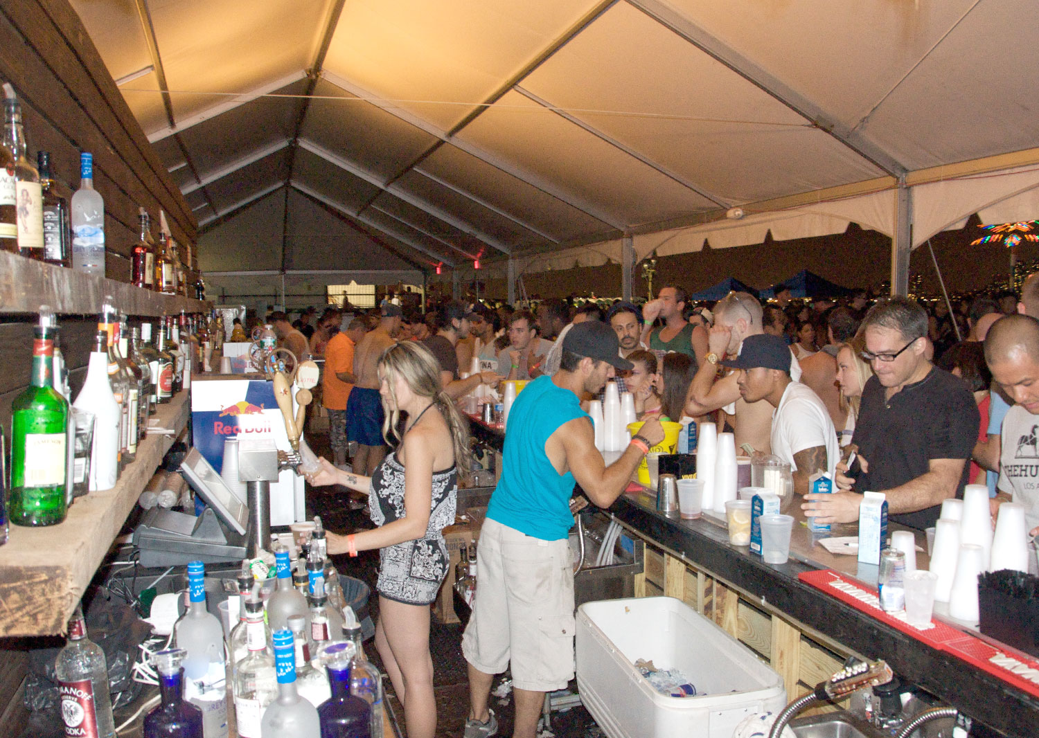 Bar At Water Taxi Beach - Governors Island 2010