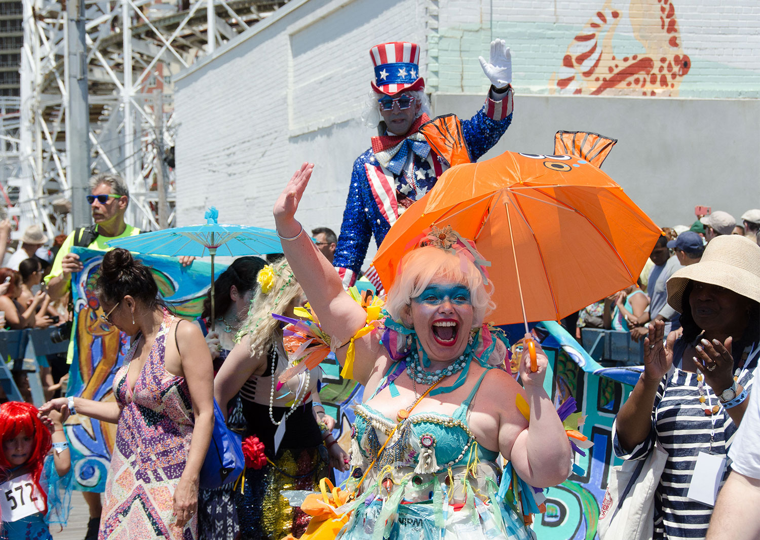 Mermaid Parade On The Coney Island Boardwalk 2016